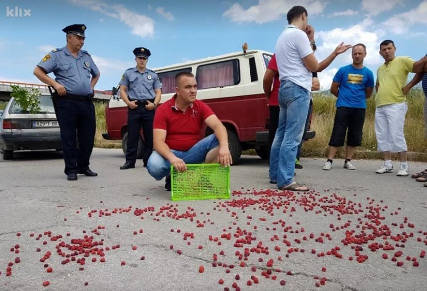 Protest malinara u Zenici