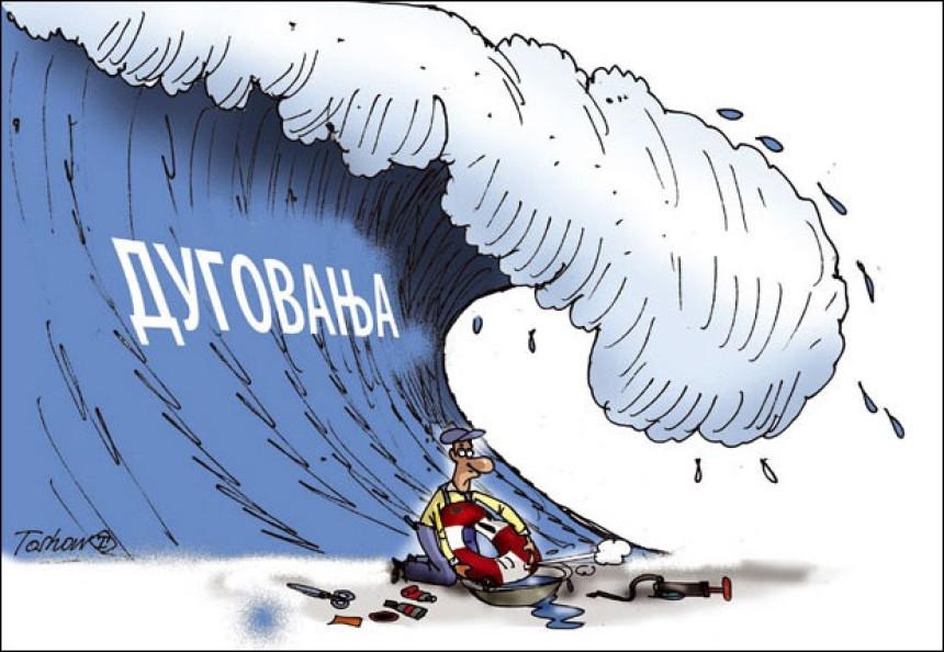 Građani Srpske duguju u prosjeku 2.050 KM
