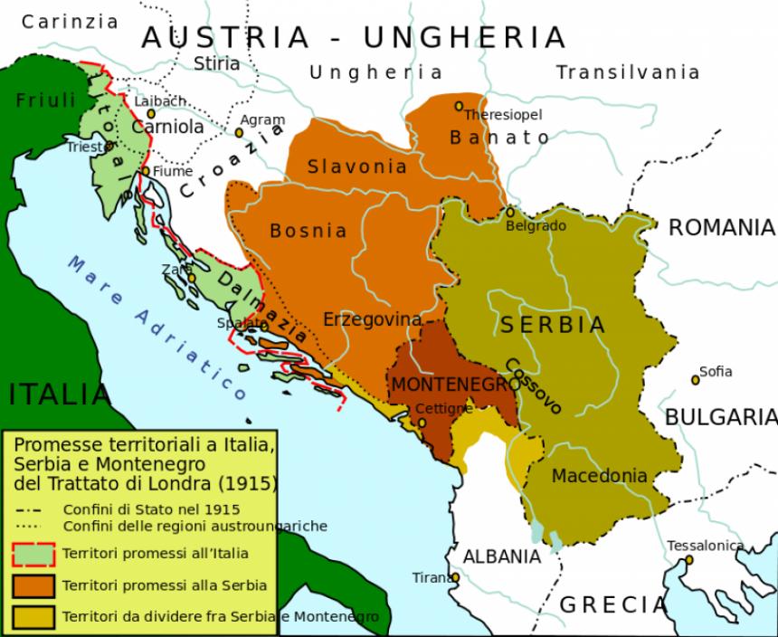 1915. ponuđena Velika Srbija