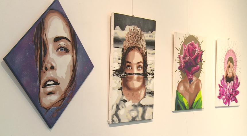 Marijina stensil art umjetnost