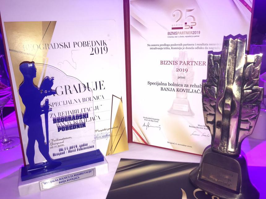 Nagrade za Specijalnu bolnicu u Banji Koviljači