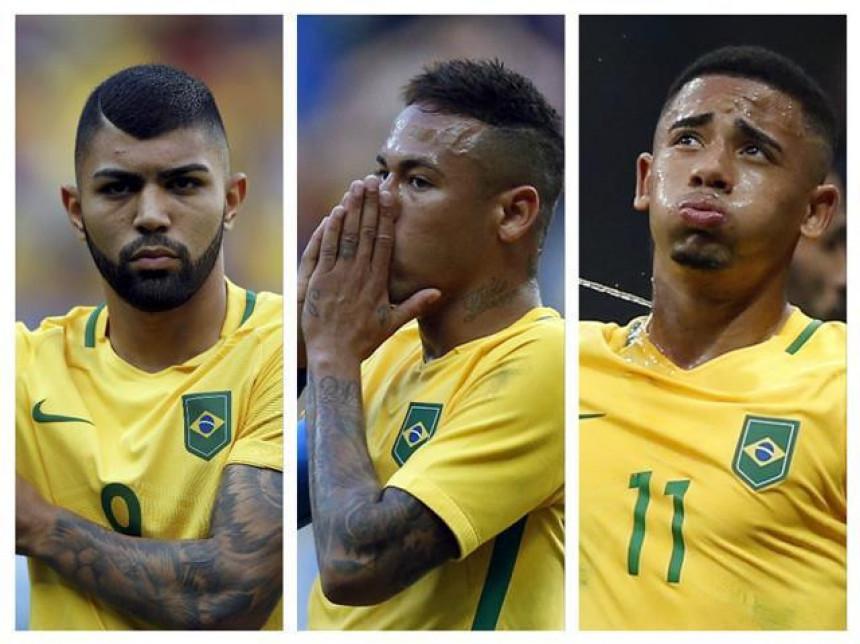 OI: Brazil ne može da postigne gol!!! Nejmar + Gabigol + Gabrijel Žesus = 0 golova!