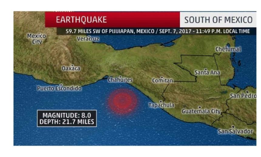 Jak zemljotres pogodio Meksiko