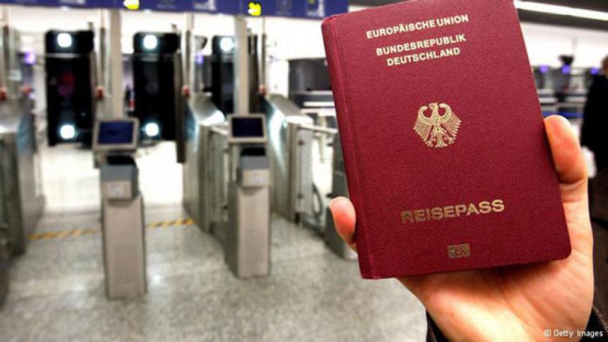 Najpoželjniji je njemački pasoš