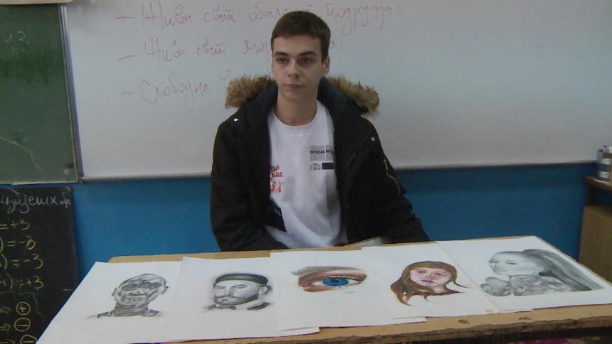 Darko Poljčić sa 14 godina slika portrete
