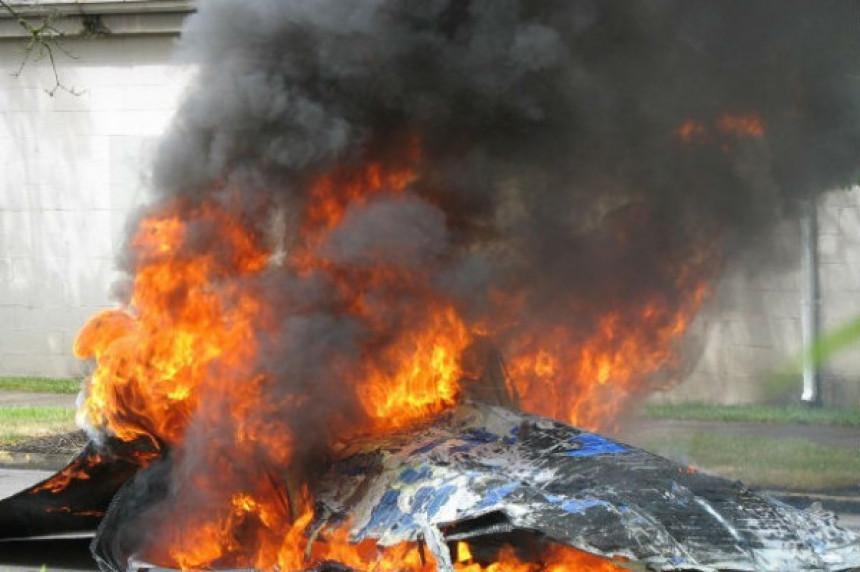 """Изгорио аутомобил марке """"пежо"""""""