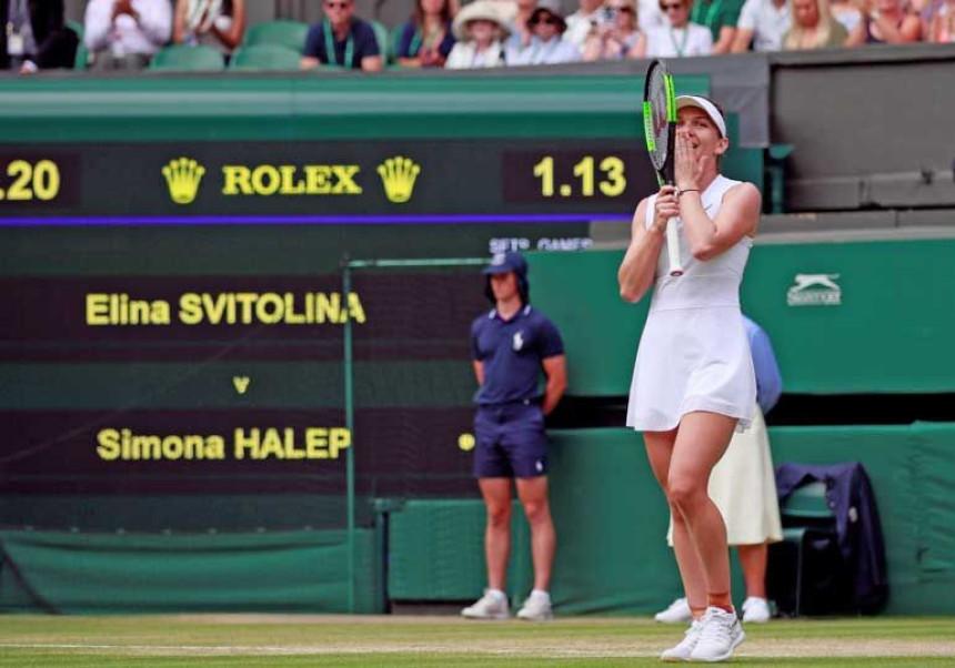 Simona Halep prvi put u finalu Vimbldona!