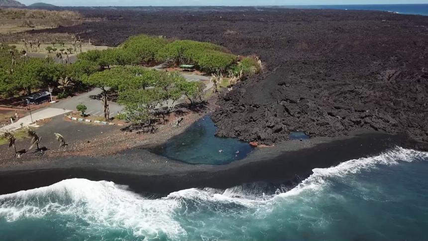 Vulkan stvorio novu plažu