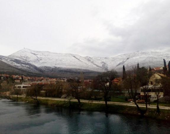 Snijeg na jugu Hercegovine