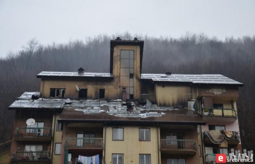 U požaru izgorilo pet stanova