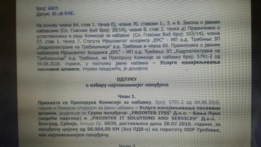 """""""HET Dodikovoj firmi prebacio 100.000 KM"""""""