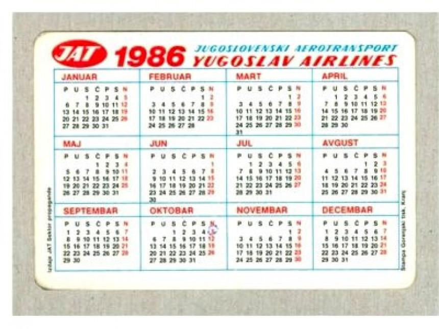 Календари 1986. и 2014. савршено се поклапају