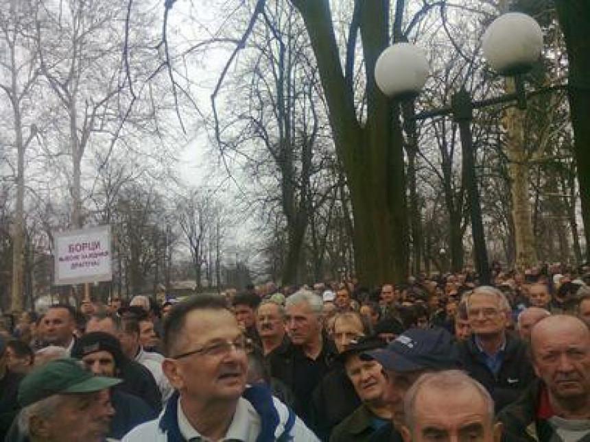 Novi protesti boraca u nedjelju