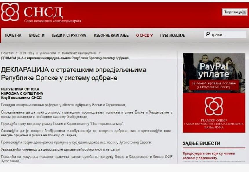 snsd.org :  SNSD za otvaranje NATO baza