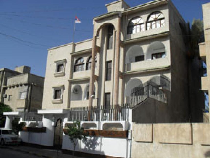 Pogođena ambasada Srbije u Tripoliju