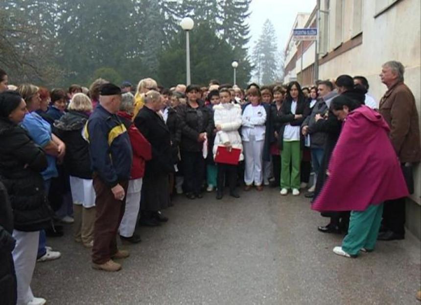 Protest radnika bolnice Kasindo