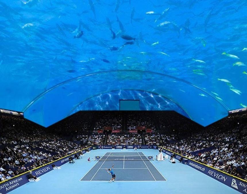 Novi megaprojekat: Podvodni teniski tereni