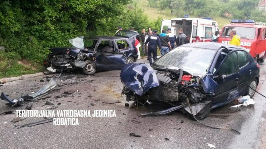 Teška saobraćajna nezgoda kod Rogatice