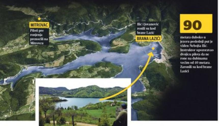 Srpski pilot nestao u dubinama jezera