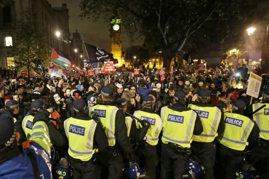 Anonimusi napravili haos u Londonu