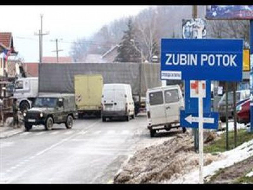 Privrednici delimično blokirali put u Zubinom Potoku