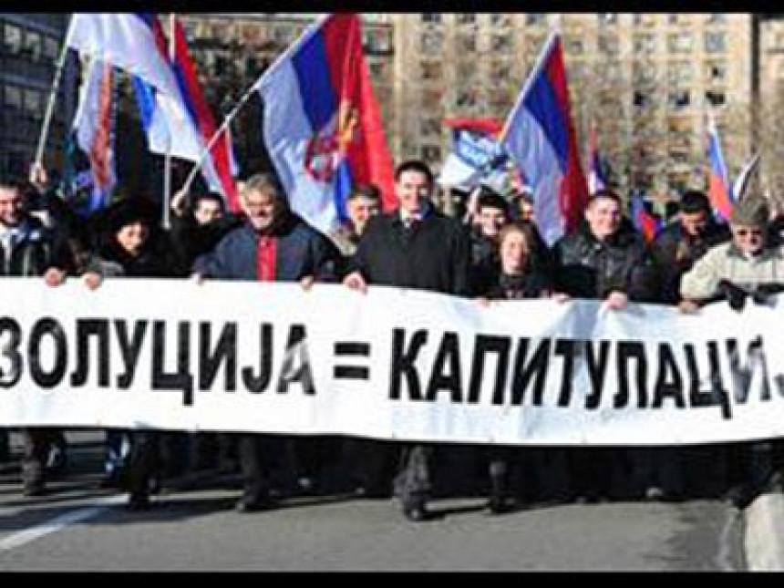 Završena protestna šetnja radikala do Skupštine