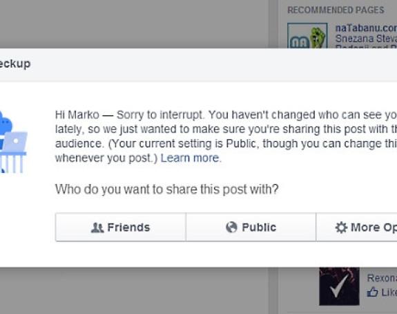 Facebook promijenio ko može da vidi tvoje objave!