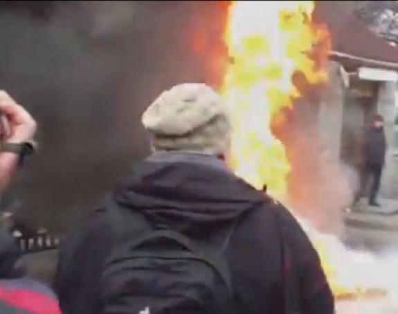 Ukrajinski vojnici zapalili zgradu Ministarstva odbrane