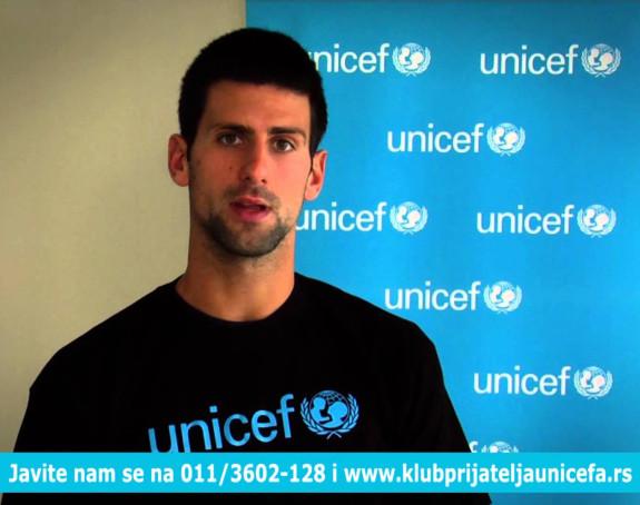 Veliko priznanje od Unicefa - Đoković svjetski ambasador!