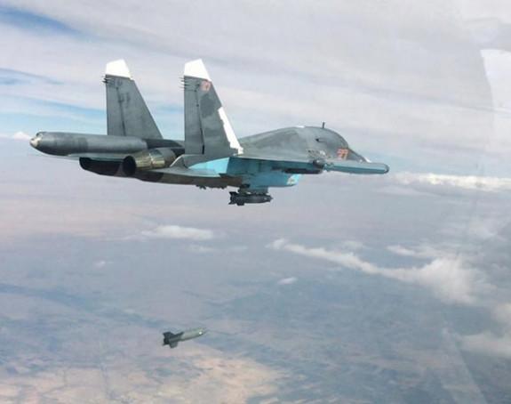 Rusi bombardovali 55 objekta terorista