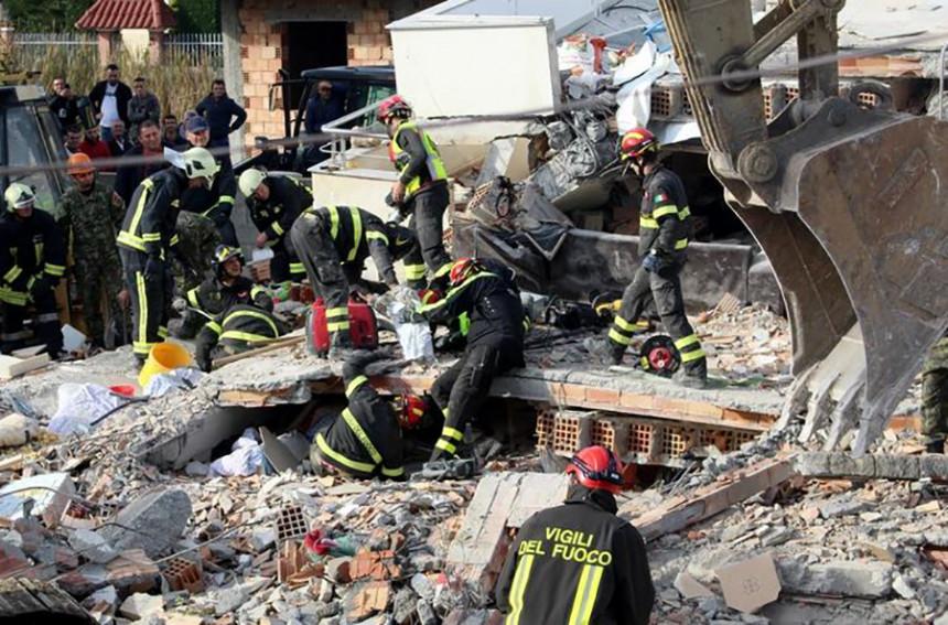 Hapšenje poslije zemljotresa u Albaniji