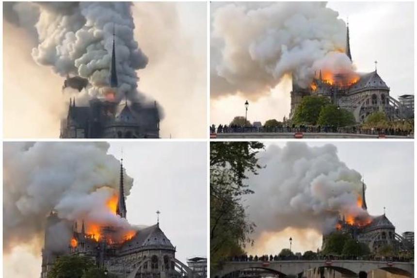 Katedrala Notr Dam u plamenu