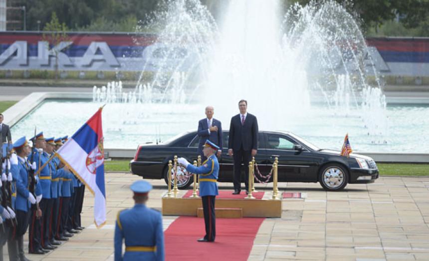 Potpredsjednik SAD-a stigao u Palatu Srbija