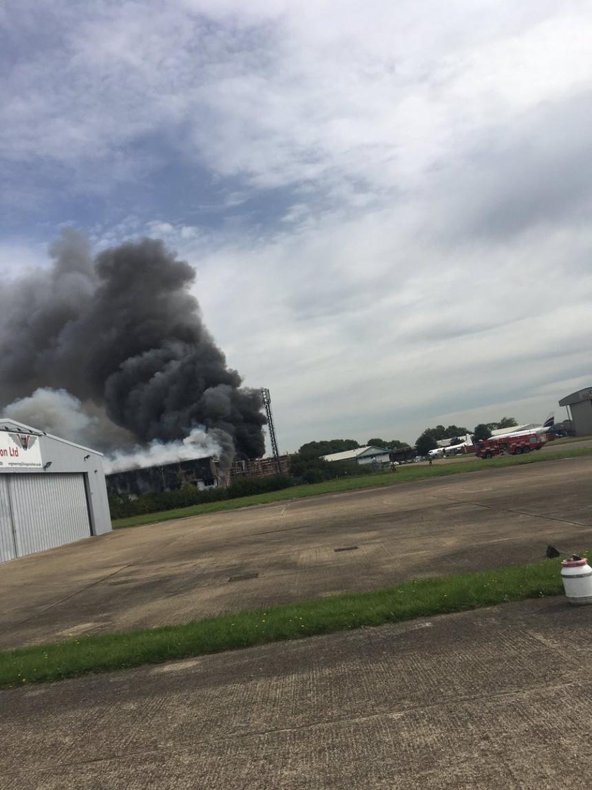 Jaka eksplozija blizu aerodroma