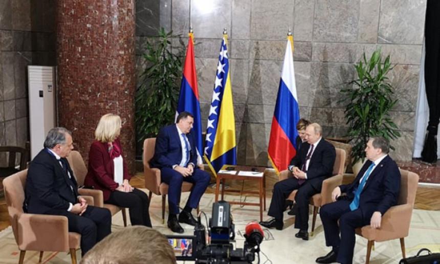 Cvijanović i Dodik sa Putinom