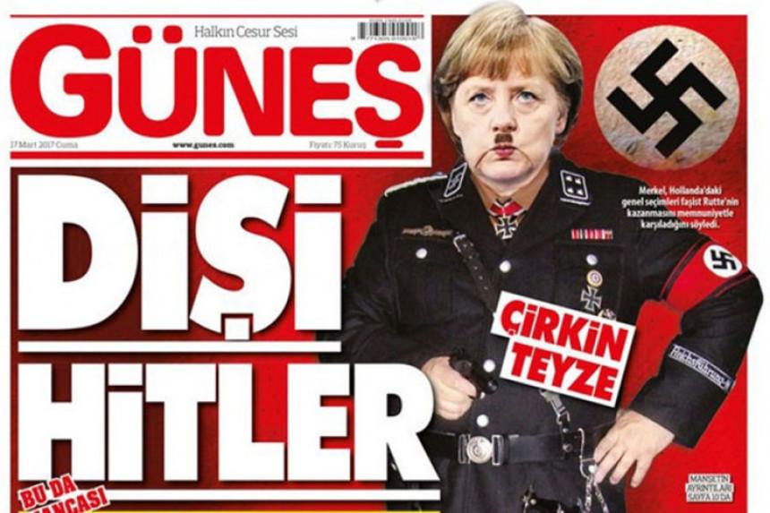 Mediji u Turskoj: Merkel kao Hitler