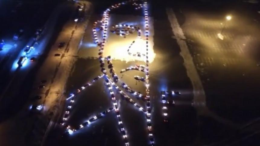 Putinov portret od 300 automobila