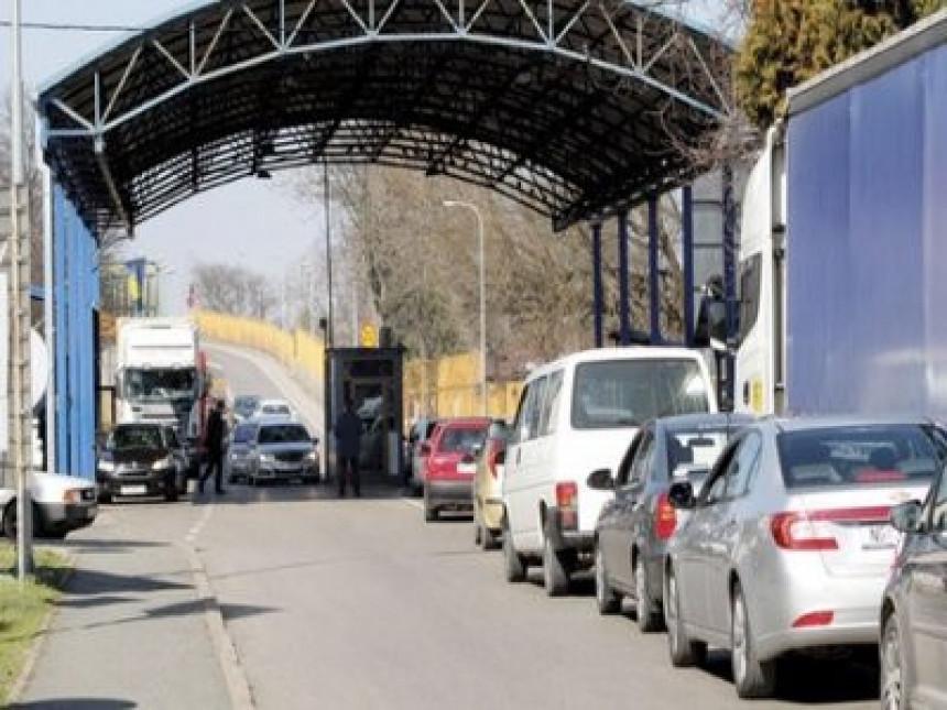 Gradiška - granica sa EU u centru grada (VIDEO)