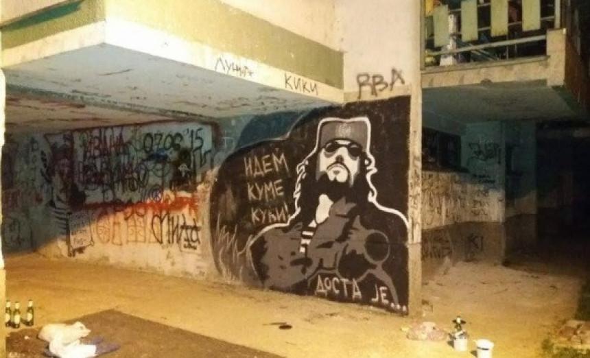 Banjaluka: Grafit posvećen Mandi