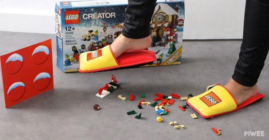 """Papuče za zaštitu od """"lego"""" kockica!"""