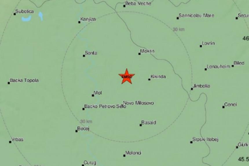 Zemljotres na sjeveru Srbije
