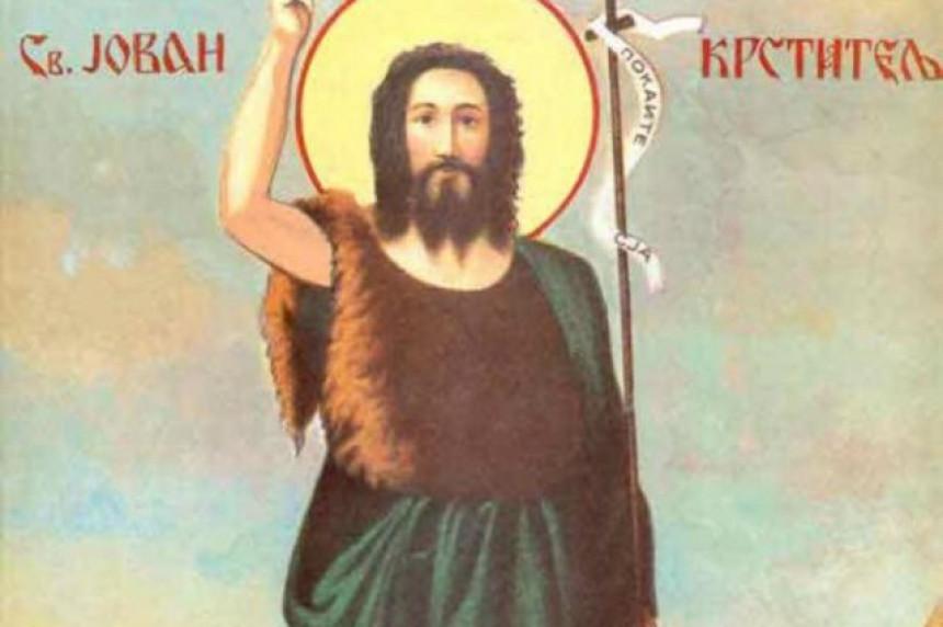 Vjernici SPC danas praznuju Jovana Krstitelja