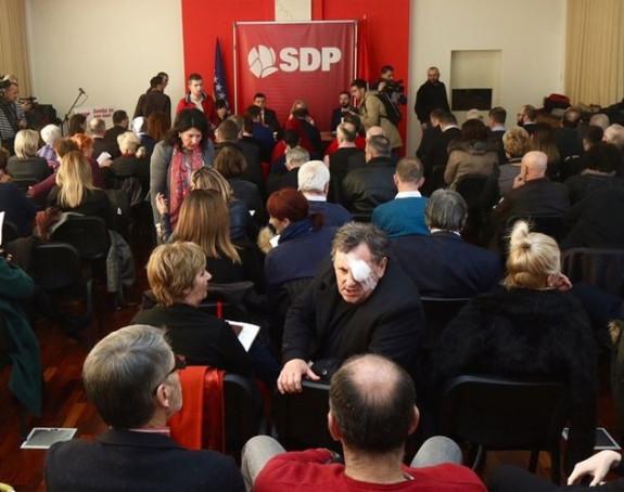 Tuča na sjednici SDP-a, jedna osoba povrijeđena
