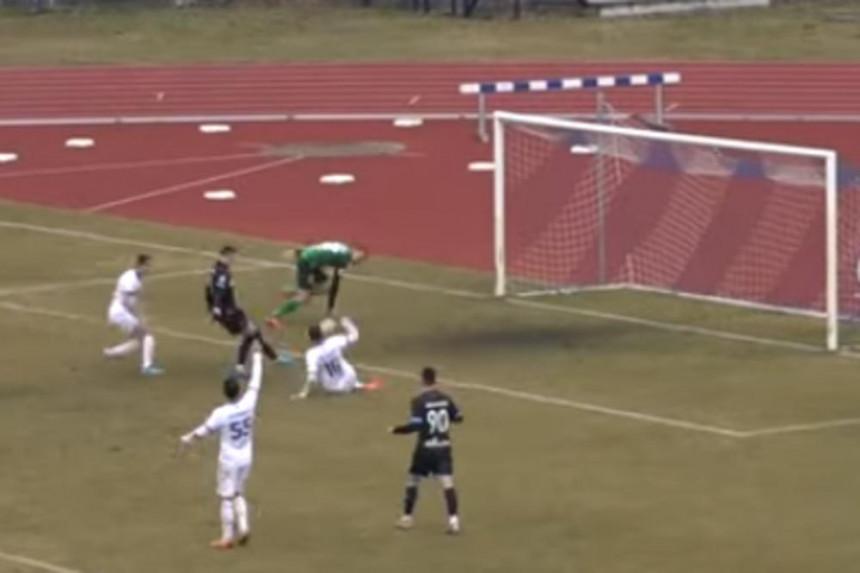 Fudbaler Spartaka promašio nemoguće (VIDEO)