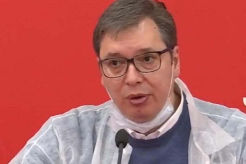 Vučić najavio nove mjere za tri najveća žarišta u Srbiji