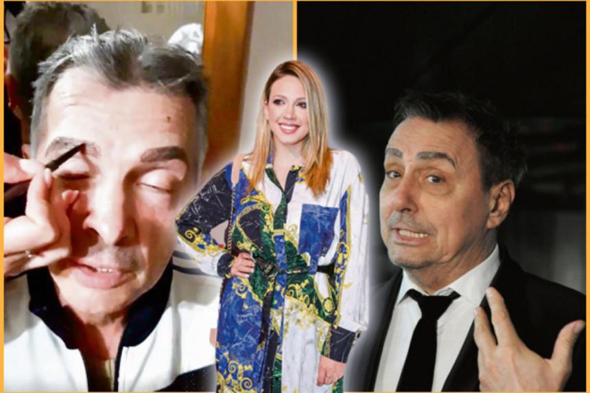 Milica Todorović ocu ofarbala obrve: Tata sad si kao Keba!