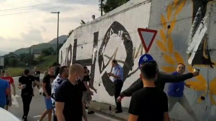 """Tuča """"delija"""" i """"grobara"""" u Višegradu zbog grafita"""