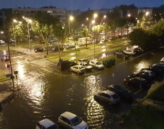 BG: Nezapamćeno nevrijeme: Cijeli grad pod vodom