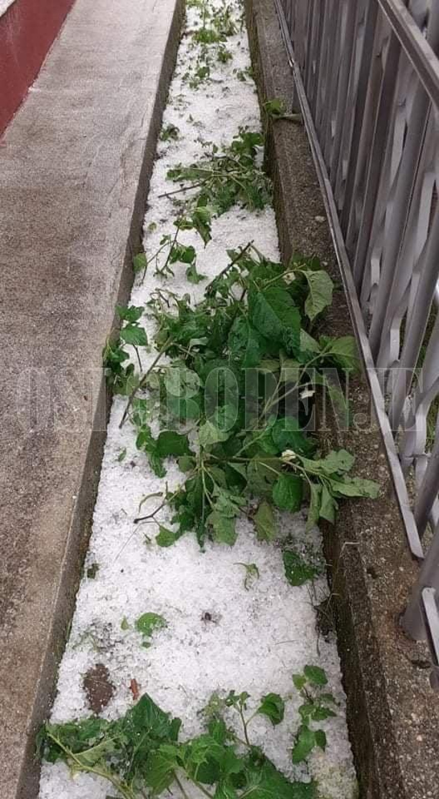 Olujno nevrijeme u Bugojnu: Sve pod ledom