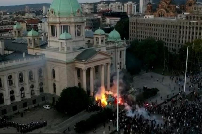 Полиција Србије завела ред у Београду